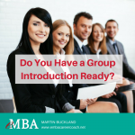 do you have a group introduction ready leveraging your emba