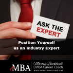 Position Yourself as an Industry Expert eMBA Career Coach