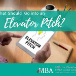 What Should Go into an Elevator Pitch?