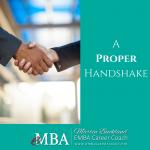 A Proper Handshake for Business