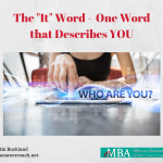 "The ""It"" Word - One Word that Describes You"