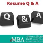 Resume Q & A