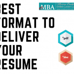 best format to deliver your resume